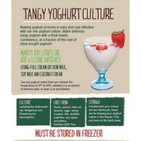 Green Living Australia Tangy Yoghurt Culture -  Makes100 LITRES