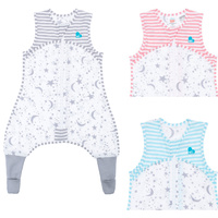 Love to Dream Sleep Suit - 0.2 TOG Aqua Grey Pink 6mths to 4 years