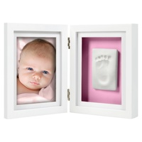 Pearhead Babyprints Newborn Handprint or Footprint Desktop Frame Kit White