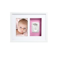Pearhead Babyprints Newborn Handprint And Footprint Photo Wall Frame Kit White