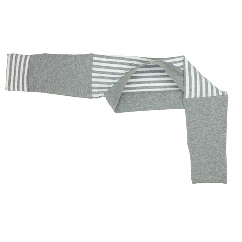 Bamboo Arm Warmers for winter by Love to Dream Grey & White Stripe 12-18 months