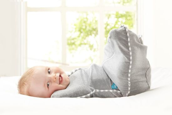 Love-to-Dream-Original-Baby-Swaddle-Up-Zip-Up-1-Tog-Grey-Pink-Blue thumbnail 15
