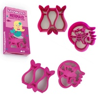 Lunch Punch Pairs Sandwich Cutters 2 Pack Mermaid