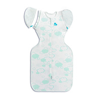 Love To Dream Organic 1 Tog Swaddle Up Transition Bag Mint Cloud