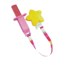 Nana Gs Silicone Teething Rusk & Fruit Stick Holder Pink - Yellow