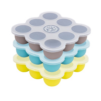 Peekabee Silicone Freezer Pod Food Storage Tray With Lid - 3 Pack Multi