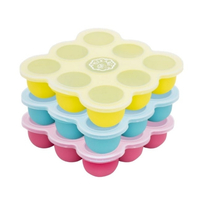Peekabee Silicone Freezer Pod Food Storage Tray With Lid - 3 Pack