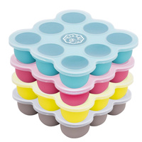 Peekabee Silicone Freezer Pod Food Storage Tray With Lid - 4 Pack Multi