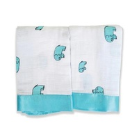 Aden + Anais Muslin Baby Issie Security Blanket Comforter 2 Pack - Declan Elephant