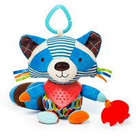 Skip Hop Bandana Buddies Baby Animal Activity Toys   Racoon