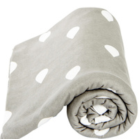 Lil Fraser Collection Stretch Cotton Baby Wraps  Jessie - Grey & White Raindrops