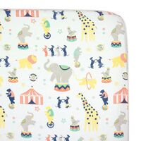 Weegoamigo Baby Cot Fitted Sheet Circus