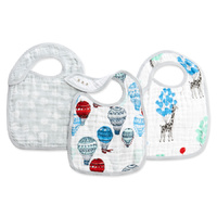 Aden and Anais Muslin Classic Snap Bibs - 3 Pack - Dreamride