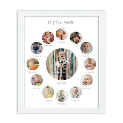 Pearhead First Year Frame for Baby Keepsake Photo Frame
