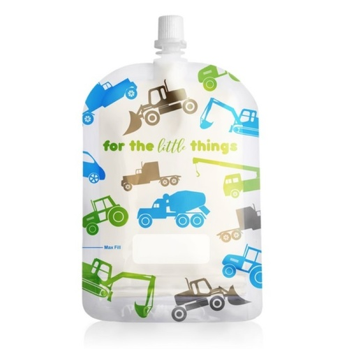 Sinchies 150ml top spout reusable food pouches packs of 10 -  Trucks